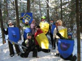 Les chevaliers avant un combat épique!