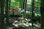 Une partie du campement