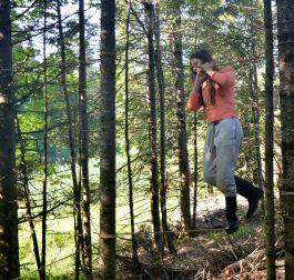 Exercice du matin: la piste d'hébertisme